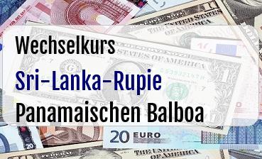 Sri-Lanka-Rupie in Panamaischen Balboa