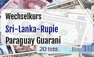 Sri-Lanka-Rupie in Paraguay Guarani