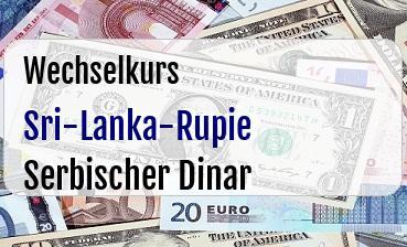 Sri-Lanka-Rupie in Serbischer Dinar
