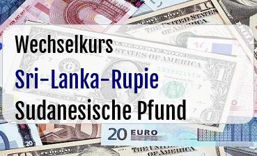 Sri-Lanka-Rupie in Sudanesische Pfund