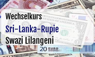 Sri-Lanka-Rupie in Swazi Lilangeni