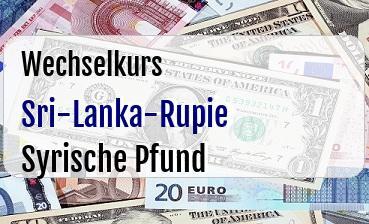 Sri-Lanka-Rupie in Syrische Pfund