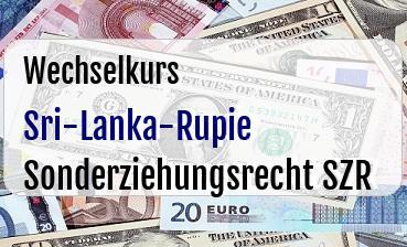 Sri-Lanka-Rupie in Sonderziehungsrecht SZR