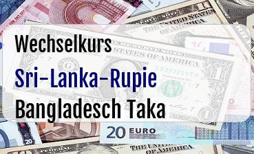 Sri-Lanka-Rupie in Bangladesch Taka