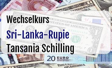 Sri-Lanka-Rupie in Tansania Schilling