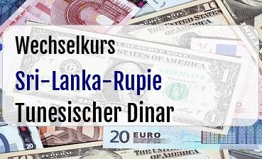 Sri-Lanka-Rupie in Tunesischer Dinar