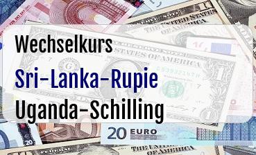 Sri-Lanka-Rupie in Uganda-Schilling