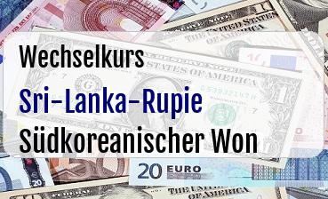 Sri-Lanka-Rupie in Südkoreanischer Won