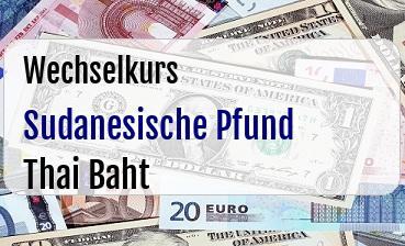 Sudanesische Pfund in Thai Baht
