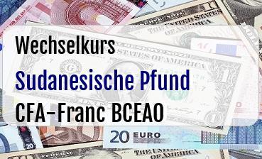 Sudanesische Pfund in CFA-Franc BCEAO