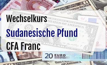 Sudanesische Pfund in CFA Franc