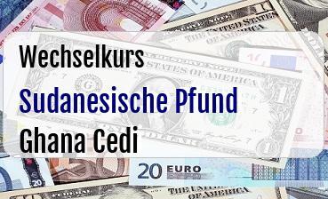 Sudanesische Pfund in Ghana Cedi