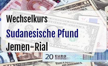 Sudanesische Pfund in Jemen-Rial