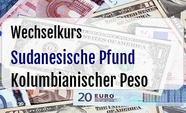 Sudanesische Pfund in Kolumbianischer Peso