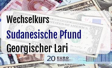 Sudanesische Pfund in Georgischer Lari