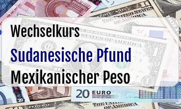 Sudanesische Pfund in Mexikanischer Peso