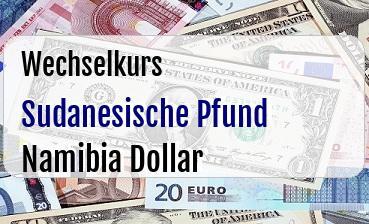 Sudanesische Pfund in Namibia Dollar
