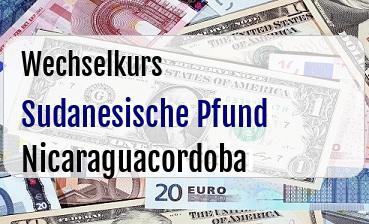 Sudanesische Pfund in Nicaraguacordoba
