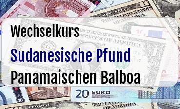 Sudanesische Pfund in Panamaischen Balboa