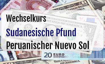 Sudanesische Pfund in Peruanischer Nuevo Sol
