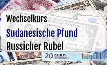Sudanesische Pfund in Russicher Rubel