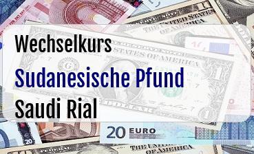 Sudanesische Pfund in Saudi Rial