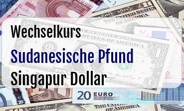 Sudanesische Pfund in Singapur Dollar