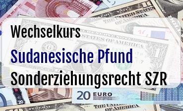 Sudanesische Pfund in Sonderziehungsrecht SZR