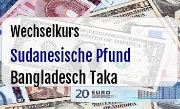 Sudanesische Pfund in Bangladesch Taka