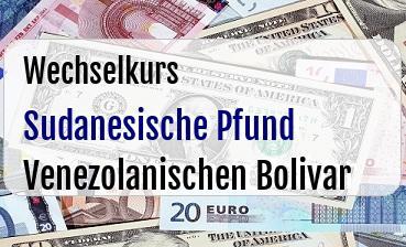 Sudanesische Pfund in Venezolanischen Bolivar