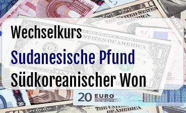 Sudanesische Pfund in Südkoreanischer Won