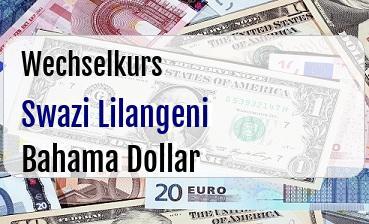 Swazi Lilangeni in Bahama Dollar