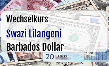 Swazi Lilangeni in Barbados Dollar