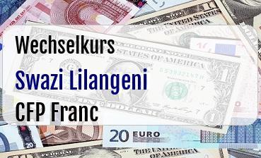 Swazi Lilangeni in CFP Franc