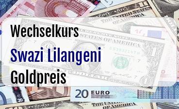 Swazi Lilangeni in Goldpreis