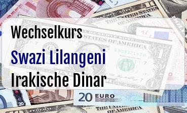 Swazi Lilangeni in Irakische Dinar
