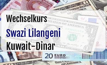 Swazi Lilangeni in Kuwait-Dinar