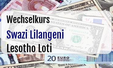 Swazi Lilangeni in Lesotho Loti