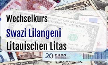 Swazi Lilangeni in Litauischen Litas