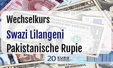 Swazi Lilangeni in Pakistanische Rupie