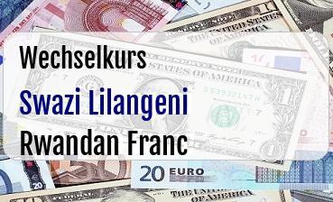 Swazi Lilangeni in Rwandan Franc