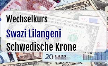 Swazi Lilangeni in Schwedische Krone