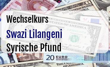 Swazi Lilangeni in Syrische Pfund