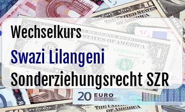 Swazi Lilangeni in Sonderziehungsrecht SZR