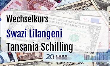 Swazi Lilangeni in Tansania Schilling