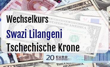 Swazi Lilangeni in Tschechische Krone