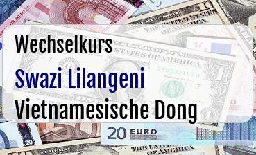 Swazi Lilangeni in Vietnamesische Dong