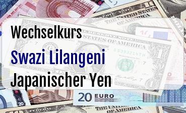 Swazi Lilangeni in Japanischer Yen