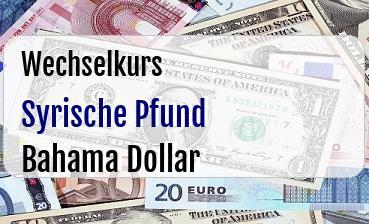 Syrische Pfund in Bahama Dollar