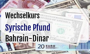 Syrische Pfund in Bahrain-Dinar
